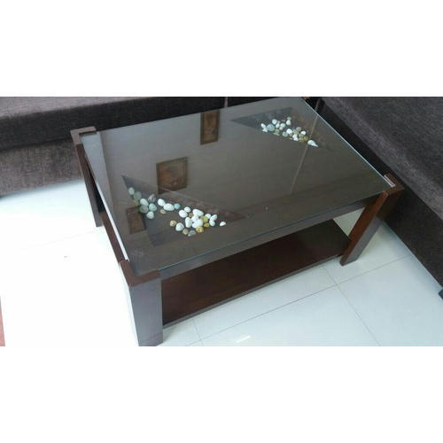Brown Rectangular Wooden Glass Center Table Rs 6000 Piece Id