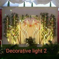 Stainless Steel Yellow Decorative Wedding Light
