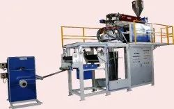 Blue and White PP - TQ Blown Film Plant, Capacity: 25 - 80 ( Kg/Hr )