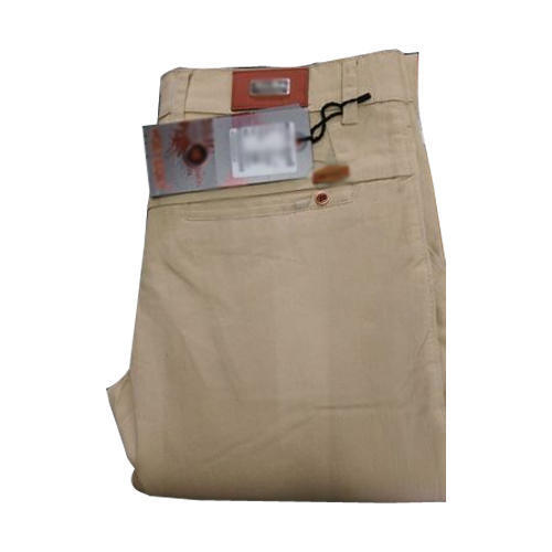 Cotton Cream Formal Trouser, Size: 24 to 48 inch