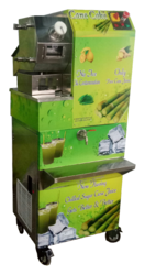 Automatic Sugar Cane Juice Machine with Chiller