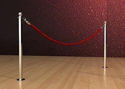 Floor Mount Rope Velvet Que Manager