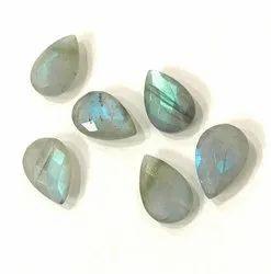 Blue Natural Labradorite, Pear Shape Pendent Stone, 10x16mm Pear Shape, For Earrings