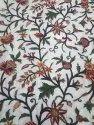Silk Organza Hand Embroidered Kashmiri Crewel Fabric