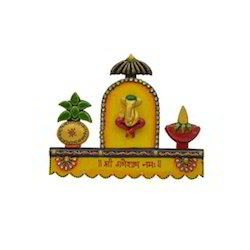 Wooden & Paper Mache Shree Ganeshay Namah 4 Key Hanging