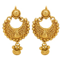 Ladies Round Gold Earring
