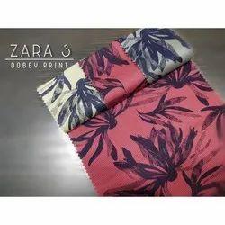 Printed Cotton Dobby Shirting Fabric