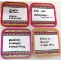Coasters With Quotes For Hotel