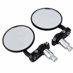 83 Mm Black Round Mirror