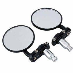 83 Mm Black Round Mirror