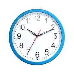Blue & White Plastic Decorative Wall Clock