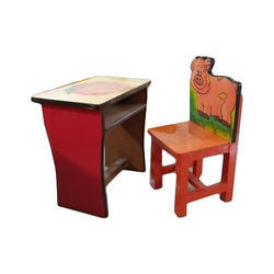 2 Seater Kids Study Table And Chair Age Group 4 To 8 Year