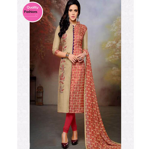 a001cd279f Multi-color Chanderi And Cotton Collar Neck Ladies Suit, Rs 799 ...