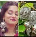 Oxidized Silver Earrings Dangler Bollywood Party Wedding Ethnic Designer Indian
