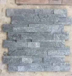 Silver Grey Slate Stone Wall Panel