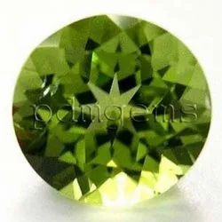 Peridot Faceted Round Cut Gemstone