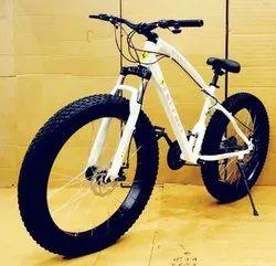 Ferrari White Fat Tyre Cycle