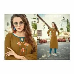 Arihant NX Party Wear Ladies Embroidered Cotton Kurti