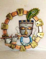 Iron Painted Krishna Wall Hanging