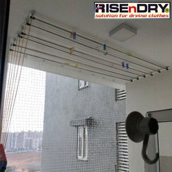 Rise n Dry Stainless Steel Wall Mounted Ceiling Hanger