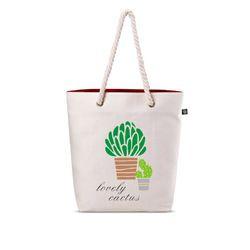 Natural Printed Cotton Bag