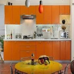Wooden Straight Godrej Modular Kitchens, in India