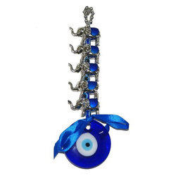 Feng Shui Evil Eye Hanging for Protection with Silver Elephant