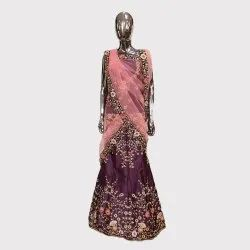Dark Magenta  Fancy Lehenga