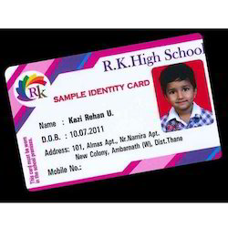 Id The Card Student 8 Pulmaker piece Pvc Rectangular 15073100373 Rs Id