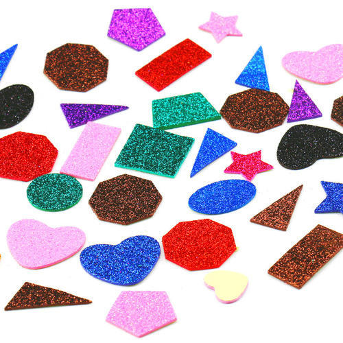 multi glitter small shapes sticker at rs 55 packet glitter