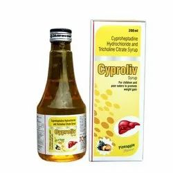 Pineapple Cyproliv Syrup, Packaging Type: Bottle