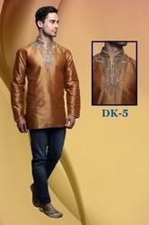 Elegant Silk Short Kurta For Men