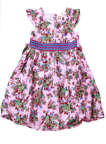 417a5f8ac Cotton Pink Kid s Floral s Print Frock