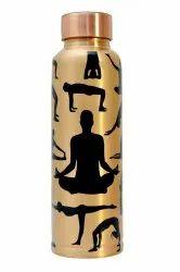 Round Yoga Copper Water Bottle