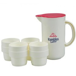 1 ltr jug with 4 glasses