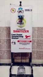 Standing Sanitizer Dispenser Stand with 500mL Sanitizer Bottle