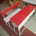 Red Benches and Desks