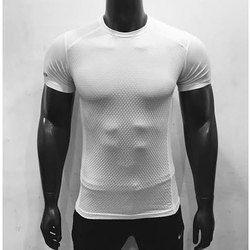 Men White Sports T-Shirts
