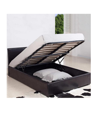 Black Oak Wood Storage Bed