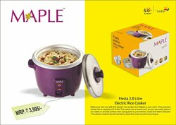 Maple Silver Rice Cooker, For Home, Capacity: 2.8 L