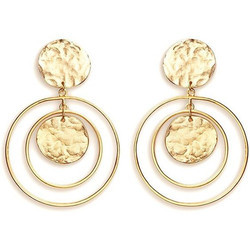 Women Stud New Design Gold Plated Handmade Brass Hammered Earrings