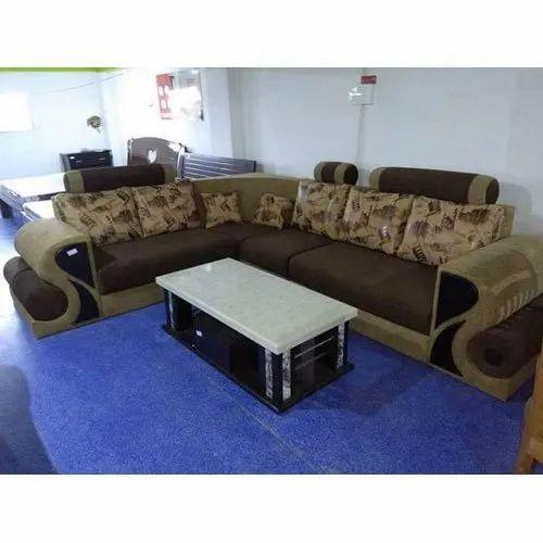 Dark With Light Brown Wooden Designer Corner Sofa Set Rs 9500 Set
