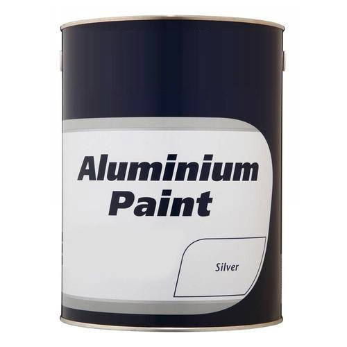 Silver Color Heat Resistant Aluminium Paint, Packaging: 5 L