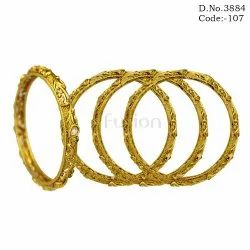 Antique Polki 4 Pc Bangle Set