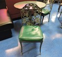 Iron And Aluminium Black Iron Design Chair, For Cafe