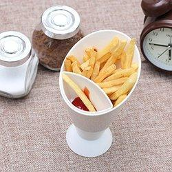 Creative Snack Stand Dip Serve Holder Fries Chips Finger Sauce Vegetables Snack Stand for French Fri