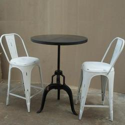 Tolix Chair with Crank Table for Restaurants