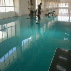 in Commercial Building Multi Color Industrial Epoxy Flooring Services, in Gujrat