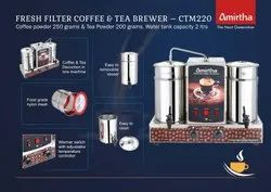Amirtha Filter Semi Automatic Coffee Brewer, Capacity: 2 Litres, Serving Capacity: 500-1000 cups per day