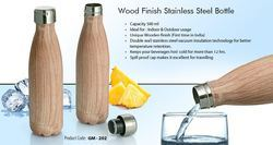 Wood Finish Stainless Steel Bottle